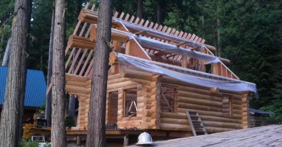 Custom Log Home Trusses