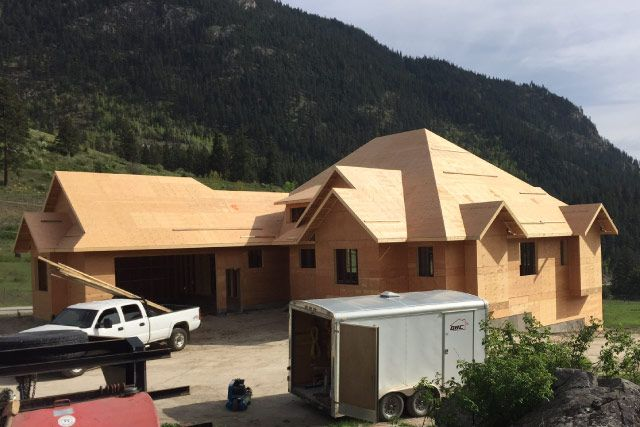 New Residential Building with Trusses