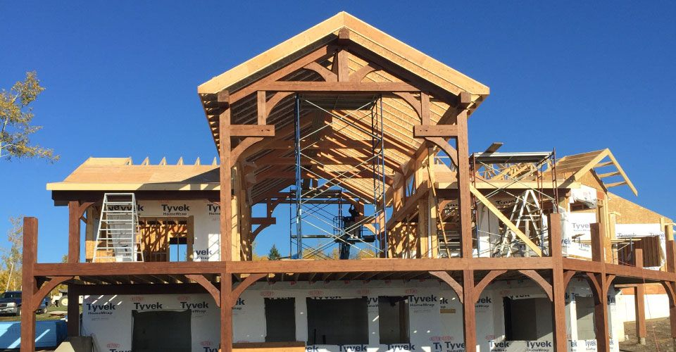 Custom Trusses on New Building